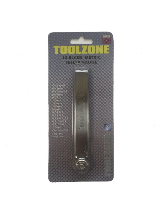 Toolzone 13 Blade Mm Metric Feeler Gauge