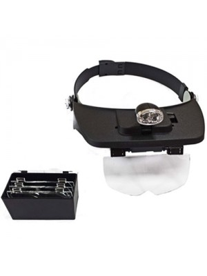 Toolzone Head Mounted Magnifier 2 Leds