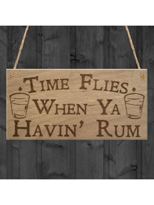 Havin Rum Funny Alcohol Man Cave Home Bar Pub Hanging Plaque