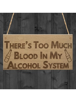 Alcohol System Funny Alcohol Man Cave Bar Pub Hanging Plaque