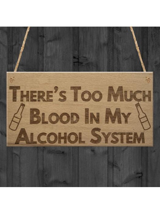 Alcohol System Funny Alcohol Man Cave Bar Pub Hanging Plaque
