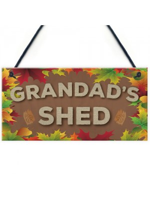 Grandad's Shed Man Cave Workshop Garden Tool Shed Hanging Plaque