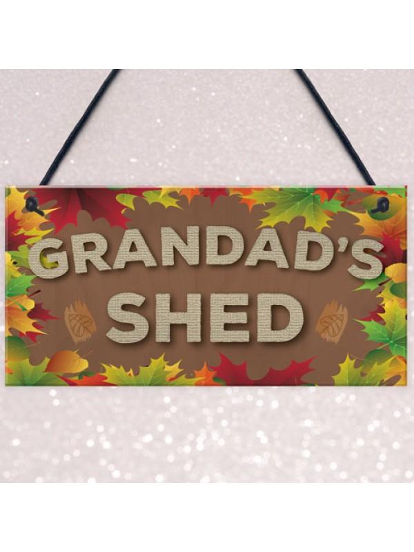 Grandad's Shed Man Cave Workshop Garden Tool Shed Hanging Plaque