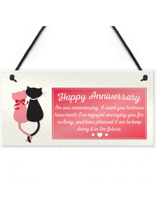 Anniversary Annoying Funny Marriage Couples Gift Hanging Plaque