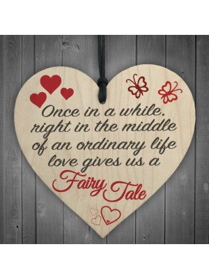 Fairy Tale Wedding Valentines Relationship Couple Hanging Plaque