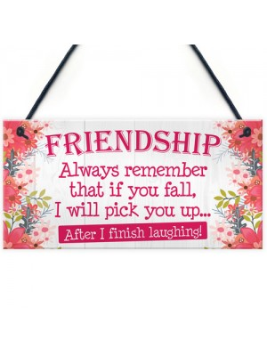 I Will Pick You Up After I Finish Laughing! Friendship Gift Sign