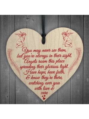 Glorious Light Angels Memorial Bereavement Poem Hanging Plaque