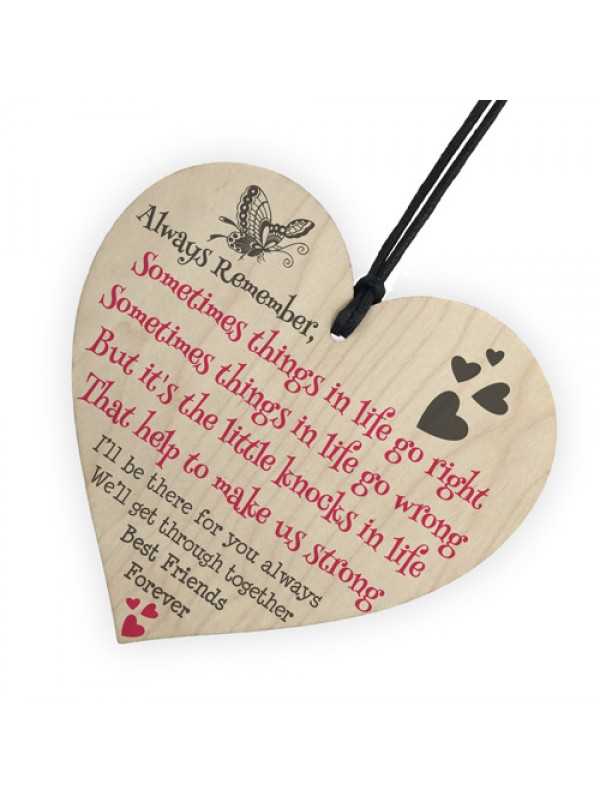 Best Friends Forever Friendship Love Heart Gift Hanging Plaque