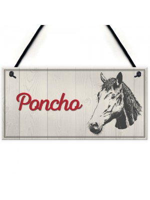 Personalised Horse Pony Name Plate Stable Door Hanging Plaque