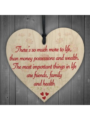 More To Life Inspiration Friendship Family Gift Hanging Plaque
