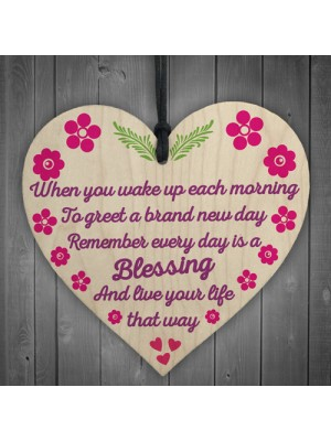 Every Day Blessing Friendship Best Friends Gift Hanging Plaque