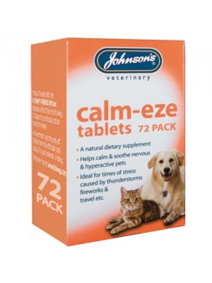 Johnsons Calm-eze Tablets - Thunderstorms/Fireworks/Travel 72pk