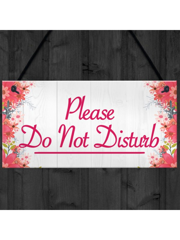 Please Do Not Disturb Therapist Hotel Privacy Hanging Plaque