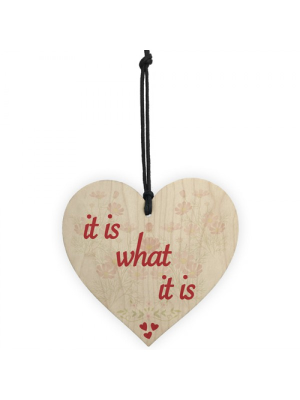 It Is What It Is Funny Friendship Inspire Alcohol Hanging Plaque