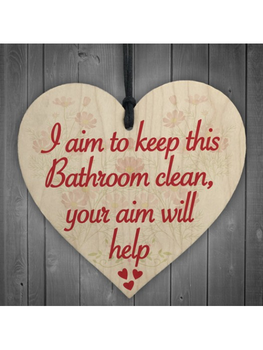 Bathroom Aim Clean Friendship Funny Toilet Soap Hanging Plaque