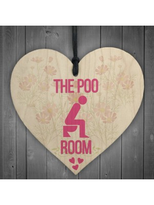 The Poo Room Bathroom Toilet Friendship Home Gift Hanging Plaque