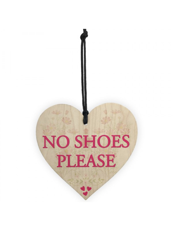 No Shoes Please Remove Trainers Home Carpet Gift Hanging Plaque