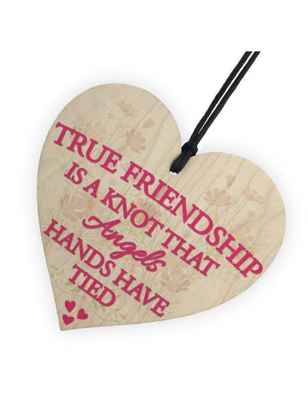 True Friendship Knot Angels Best Friend Gifts Hanging Plaque