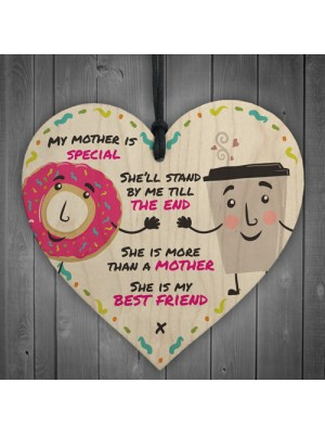 She Is My Bestfriend Heart Decoration Mum Mother's Day Gift