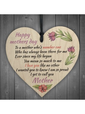 Happy Mothers Day Hanging Heart Sign Mothers Day Gifts