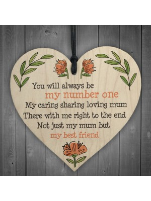 Loving Mum Hanging Wood Heart Sign Mothers Day Gifts