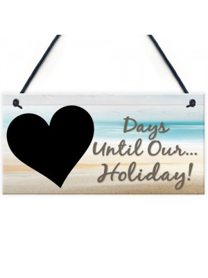 Chalk Board Holiday Countdown Sign - Days Until Our Holiday