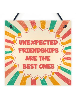 Best Friend Unexpected Friendships Sign Colourful Love Plaque