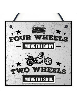 Motorbike Man Cave Hanging Plaque Garage Gift Motorcycle Sign