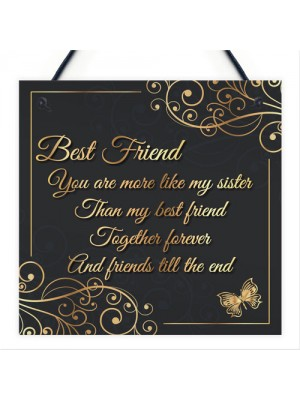 Best Friends Friends Till The End Hanging Plaque Friendship Gift