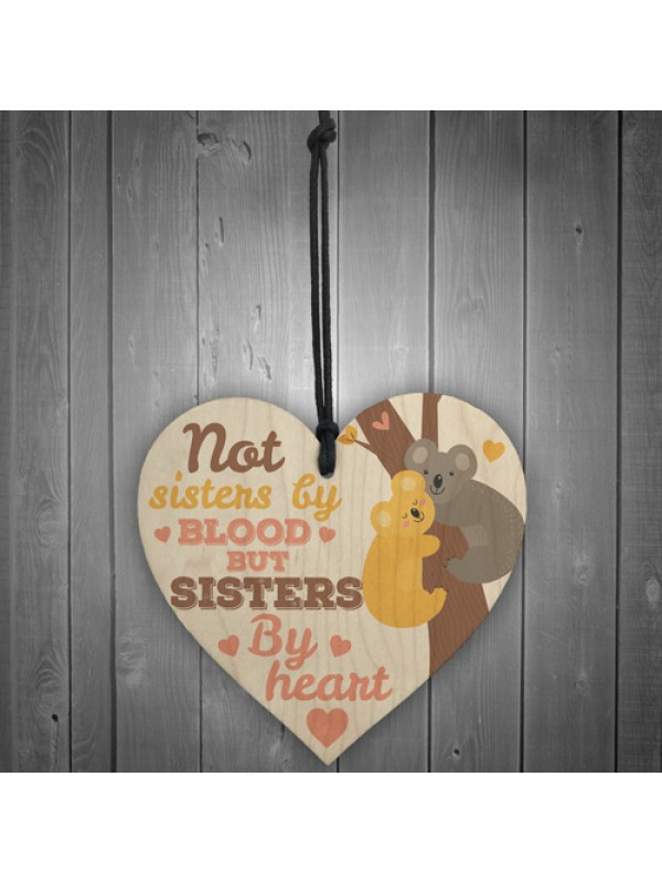 Sisters By Heart Friendship Sign Best Friend Plaque Gift Present