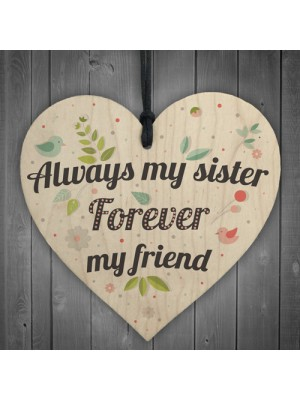 Friendship Sign Sister Friend Plaque Shabby Chic Gift Wood Heart