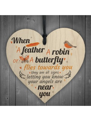 Angels Are Near Memorial Bereavement Family Hanging Plaque Gifts