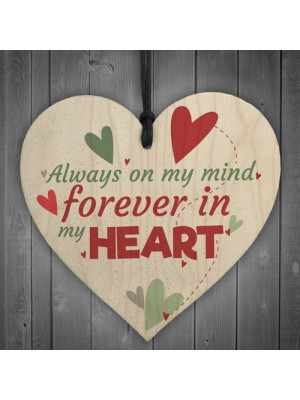 Forever In My Heart Anniversary Gift Friends Wooden Heart Plaque