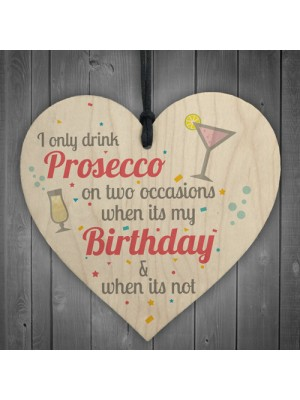 Prosecco Friend Friendship Plaque Sign Funny Wooden Gift Alcohol