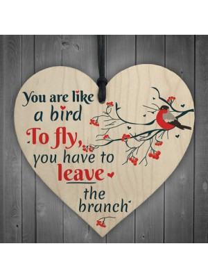 Inspirational You Are Like A Bird Wooden Heart Friendship Signs