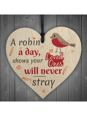 Robin Memorial Bereavement Family Mum Dad Love Hanging Plaque