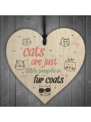 Cats Fur Coats Cute Funny Gift Idea Animal Lover Hanging Plaque