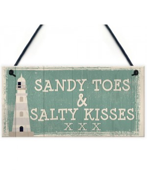 Sandy Toes Shabby Chic Seaside Lighthouse Nautical Theme Signs