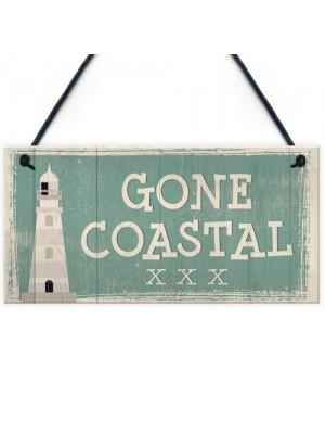 Gone Coastal Shabby Chic Sign Vintage Nautical Seaside Plaques