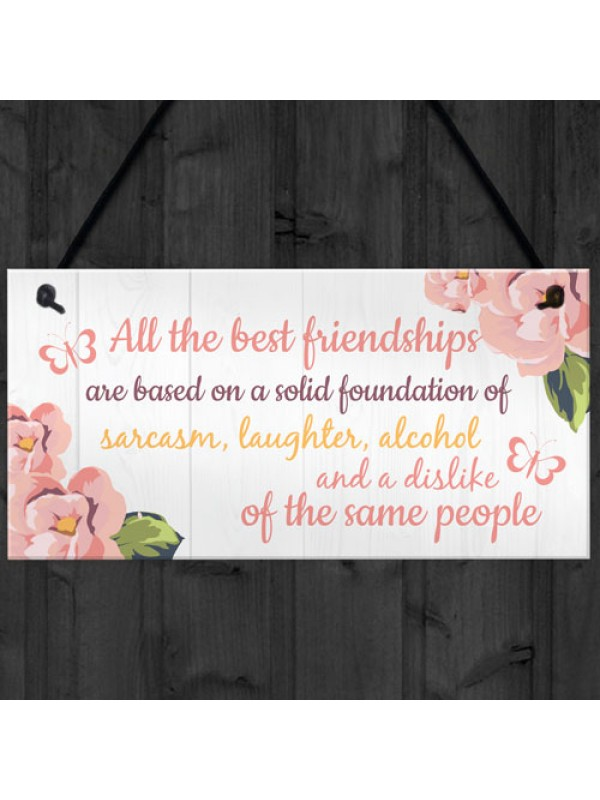 Friendship Sign Best Friend Hanging Plaque Thank You Gift Chic