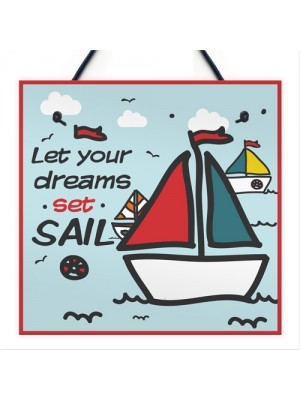 Set Sail Chic Signs Sailing Nautical Seaside Plaques Boat Gifts
