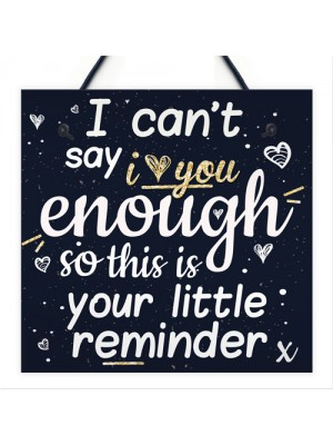 I Can't Say I Love You Enough Hanging Plaque Anniversary Signs