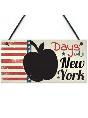Countdown New York Holiday Plaque Chalkboard Signs Family Gifts