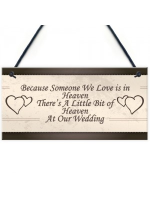 Wedding Decoration Plaque Heaven At Our Wedding Shabby Chic Sign