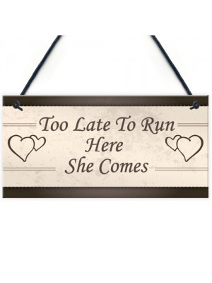 Wedding Decoration Plaque Shabby Chic Bride Groom Reception Gift