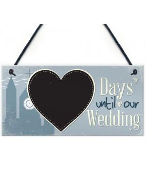 Wedding Countdown Plaque Sign Chalkboard Engagement Gift Mr&Mrs