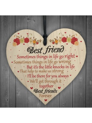 Best Friends Forever Friendship Hanging Heart Special Love Gifts
