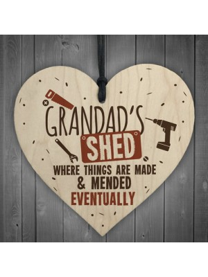 Grandads Shed Wooden Plaque Novelty Workshop Garage Tool Gifts