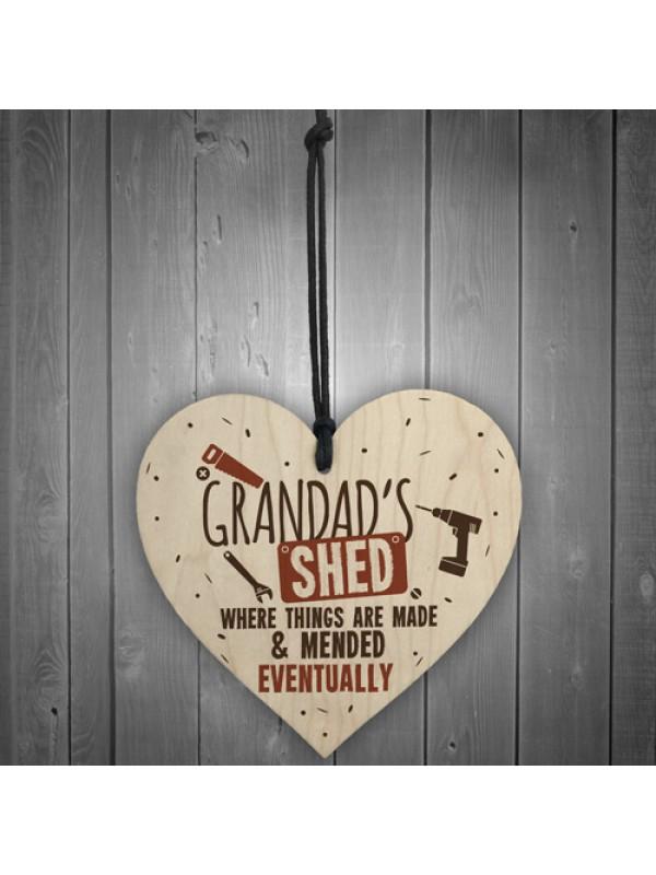 Grandads Shed Wooden Plaque Novelty Workshop Garage Tool Gifts