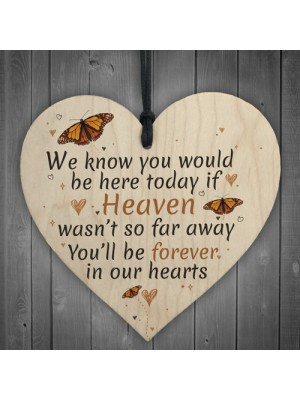 In Our Hearts Hanging Heart Heaven Memorial Mother Dad Nan Gift